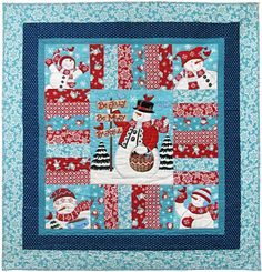 moda be jolly snow man quilt