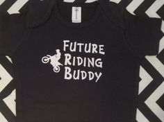 Future Riding Buddy / dirt bike dirtbike onsie by Ilove2sparkle