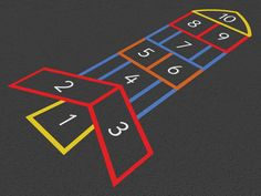 Circle Hopscotch Playground Markings - Sovereign Play Equipment