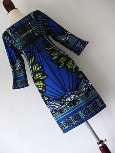 . GALAXY ALLURE . XL XXL . Bright Psychedelic Print Jersey Midi Dress Plus Size #Unbranded