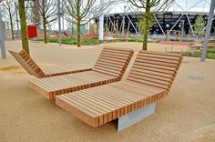 Olympic Park, James Corner design. Giant furniture should prove as much of an attraction here as on the Highline.