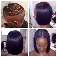 Amazing braid foundationfull sew in install with no leave out tapered haircut sew in pmusecretfo Images