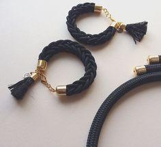 Rope jewelry #ropebracelet #blackbracelet #knottedjewelry
