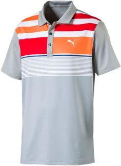 5c6428c2 Puma Road Map Golf Polo Shirt Golf Polo Shirts, Puma Mens, Polo Ralph Lauren