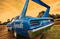 "1970 Plymouth Road Runner Superbird -- Dominated in NASCAR for one year by Richard Petty before it was regulated out of the sport. If it looks familiar, it was ""The King"" in the movie Cars, voiced by...Richard Petty."