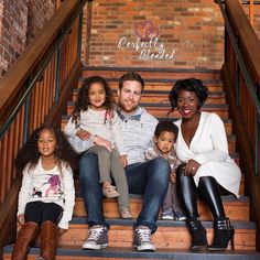 Interracial couple with biracial children. Family.  Perfectly blended. (weloveinterracial) Family love. Love.