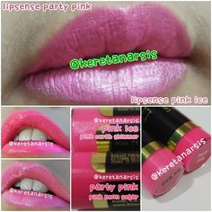 Perbandingan lipsense Party Pink & Pink Ice