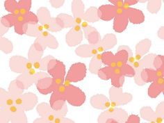 Sweet Floral Pattern Design - Colors in Japanese Style(Vol.01)    - Sweet Pink Flowers ,  Charming Flowers Background  1920+1600  Picture 10
