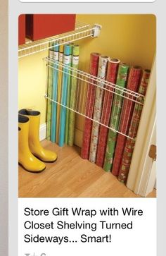 Wrapping Paper Storage Tips