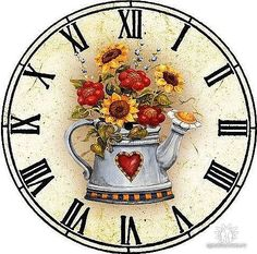 DIY diamond embroidery painting home decoration clock flower full mosaic crafts cross stitch kits for needlework Clock Painting, Tole Painting, Vintage Diy, Clock Printable, Diy Clock, Types Of Embroidery, Decoupage Paper, Vintage Postcards, Vintage Clocks