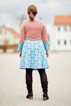 #Ladyskater, #Kitschycoo, Kleid, Nähen, Dress, Sewing, farbig, colourful, Molas