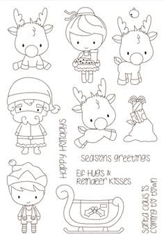 Look what I found on AliExpress Christmas Coloring Pages, Coloring Book Pages, Christmas Colors, Christmas Art, Diy Scrapbook, Scrapbooking, Black And White Art Drawing, Cheap Stamps, Tampons Transparents