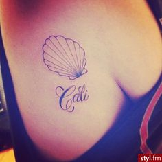 Cali sea shell tattoo