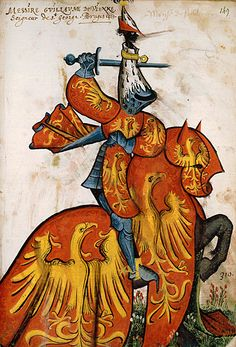 Guillaume de Vienne, Grand Armorial équestre de la Toison d'Or, Flandres, 1430-1461.