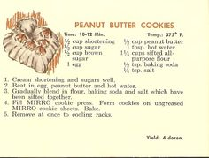 A Southern Gal's Quest for the Gourmet Life: Vintage Christmas Cheer: Mirro Cookie Press Recipe Booklet- Peanut Butter Cookies