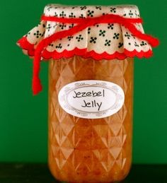Jezebel Jelly    My version is adapted from several recipe cards I found tucked in a drawer. I think they came from my mother, but they are not in her handwriting. Traditions do pass around.    1 (12-ounce) jar apricot jelly    1 (12-ounce) jar pineapple preserves    1 (5-ounce) jar prepared horseradish    1 (1.38-ounce) jar dry mustard powder (1/2 cup)    Coarse ground black pepper    In a medium bowl, mix the apricot jelly and pineapple preserve until smooth and combined. I like to use a han