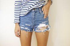How To Make Your Own Denim Shorts, destroyed denim shorts