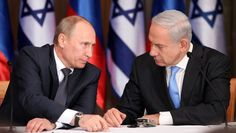 Prime Minister Benjamin Netanyahu and Russian President Vladimir Putin at Netanyahu's residence in Jerusalem on June 25, 2012. Description from warsclerotic.wordpress.com. I searched for this on bing.com/images