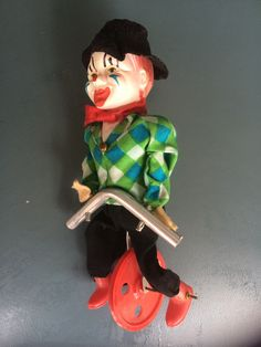 Vintage clown on a unicycle