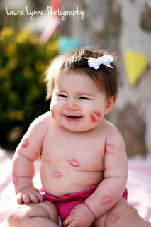 Valentine's Day Photo #photo #baby #Valentine #kisses