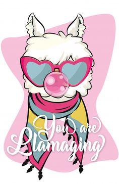 You are llamaging cute llama with sunglases and bubble gum Premium Vector Cartoon Cartoon, Cartoon Characters, Alpaca Cartoon, Alpacas, L Wallpaper, Cute Llama, Llama Alpaca, Happy Birthday Images, All Things Cute