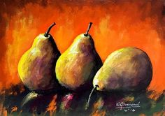 """Blazing Pears"" -  Wendy Greenwood"