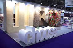 Giant text w/ texture Grand Designs Live, Spelling, Signage, Campaign, Product Launch, Meet, Candles, Wool, Studio