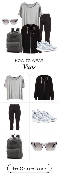 """M"" by butnotperfect on Polyvore featuring Manon Baptiste, Chicnova Fashion, Valentino, Topshop, Vans and NIKE"