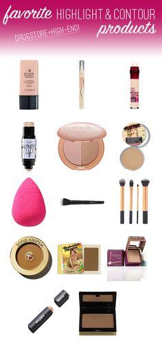 Best highlight and contour products via Wake Up For Makeup. #contouring #highlightandcontour #contour