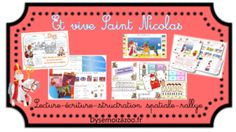 Exercices autour de Saint Nicolas structuration lecture écriture Saint Nicolas, Grande Section, Saints, Montessori, Writing Exercises, Reading, Santos
