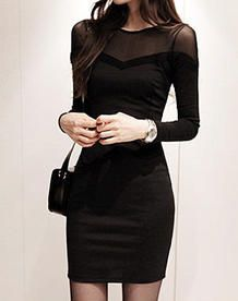 Cute black lace tube dress