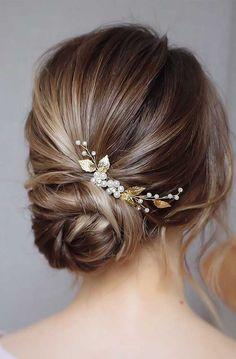 Bridal hair piece Wedding hair pins Bridal hair accessories Bridal hair vine Bridal headpiece G Bridal Hair Updo, Bridal Hair Vine, Headpiece Wedding, Bridal Headpieces, Wedding Veils, Bohemian Headpiece, Bridal Bun, Gold Headpiece, Pearl Bridal