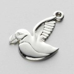 Silver  Puffin Charm by Ola Gorie