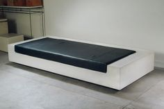 concrete floor and concrete bench