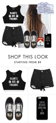 """""""why not?"""" by tay-tay-marie ❤ liked on Polyvore featuring Live a Little, Minga, Boohoo, Vans and Sharpie"""