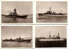 Sloop Of War, Antique Post Cards