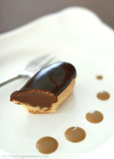 Mocha Éclairs filled with Espresso Cream Anglaise Sauce - recipe adapted from Pierre Hermé   Baking Obsession ᘡղbᘠ