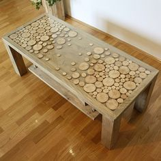 Solid wood coffe table