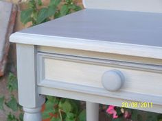 Annie Sloan Paris Gray and Old White bedside tables |Pinned from PinTo for iPad|