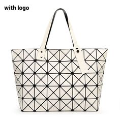 BAO BAO Women Diamond Lattice Bag Lady Folding Geometry Package Sequins  Mirror Plain Mosaic Top Handle Tote Shoulder Bag Baobao-in Top-Handle Bags  from ... df02a75a93157