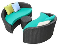 Turquoise+Patio+Set | all products outdoor outdoor furniture outdoor sofas