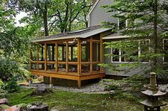 Screen Porch Addition - rustic - exterior - portland maine - by Whitten Architects
