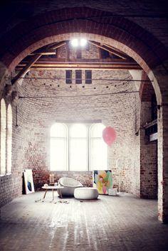 gorgeous brick space