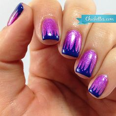 Chickettes.com funky stamped French manicure