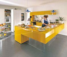 La cuisine 36e8 met à l'honneur la fonctionnalité, avec des systèmes ingénieux de stockage et de modules combinables à volonté. ©Lago