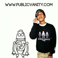 """Today 5pm its going up!! Public Vanity's long anticipated """"Dope Evidence Collection"""" is offically dropping. innovation , education, and the keys of success 4 the minority robot. Join the innovation of street fashion. www.PublicVanity.com  #DopeEvidence #PublicVanityClothing  #AmericanDream  #innovation  #creativity #urban #happiness #ArtisticExpression #hope #faith #blessing #succes #PV #DopeRobot #DopeFashion #Karmaloop #LosAngeles #quality #swagg #crezz #skate #chill #inspiration #blessing…"""