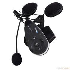 Bluetooth Intercom Interphone Motorcycle Helmet Stereo FM Radio Headset 5 Riders 1200m gift