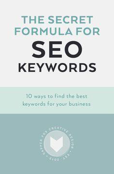 Secret Formula for SEO Keywords - How to find the best keywords for your business http://weathertightroofinginc.com