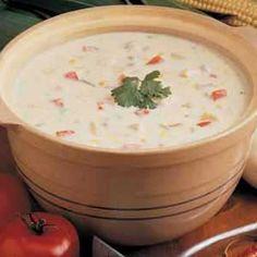 Mexican Chicken Corn Chowder  #recipes  http://www.tasteofhome.com/Recipes/Mexican-Chicken-Corn-Chowder