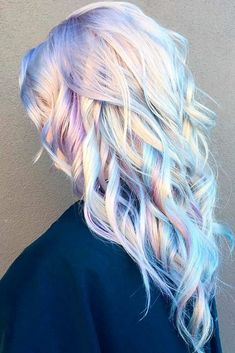 Image result for pastel blue purple hair for blondes